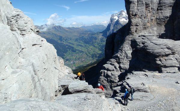 Klettersteig Switzerland : Klettersteig rotstock switzerland