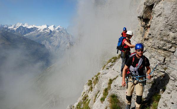 Klettersteig Switzerland : Klettersteig tälli switzerland